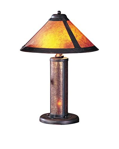 Bristol Park Lighting Table Lamp With Night Light And Mica Shade, Rust