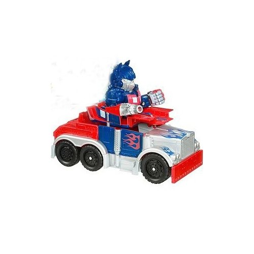 Transformers: Speed Stars Battle Chargers Cyber Armor Optimus Prime Action Figure Vehicle - 1