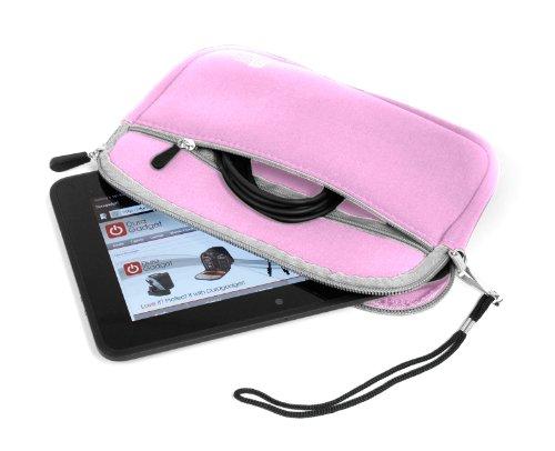 "Duragadget 7"" Pink Splash & Shock Resistant Zip Sleeve For Amazon New Kindle Fire Hd, Amazon Kindle Fire Hdx, Kindle Fire, Fire Hd (September 2012 Release) & Kindle Fire 2 Tablet"