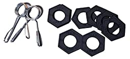 Olympic Fractional Plates - Set of 8 x 0.5 lb weights (Weight set of 4 lb) with 2 x Collars - HULK