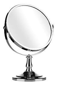 Premier Housewares Table Mirror - 15 cm - Chrome