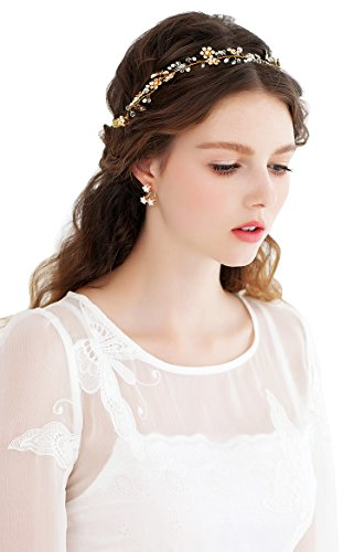 Babyonline Handmade Bridal Hair Bands Headpieces Alloy Crystal Wedding Accessories , White , One Size