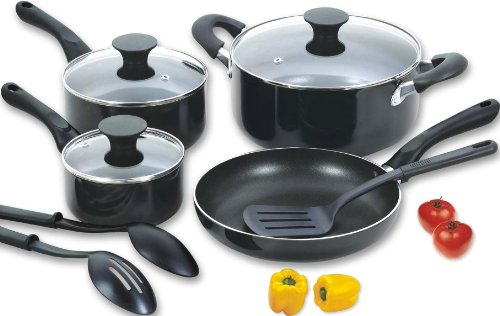 Cook N Home 10 Piece Aluminum Non Stick Cookware Set