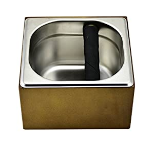 Expresso Stainless Steel Knock Box Set with Wood Holder
