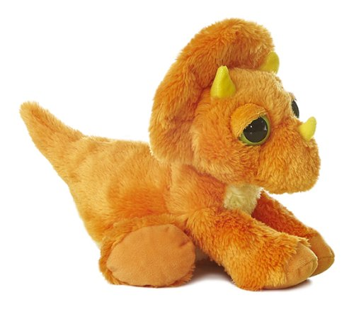 "Aurora World Dreamy Eyes Trey Dinosaur Orange 10"" Plush"