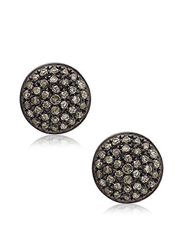 Socheec Must Have Round Diamond Stud Earrings
