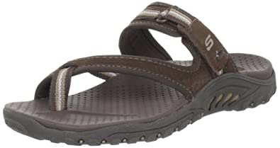 Skechers Women's Reggae-Ziggy Thong Sandal,Chocolate,5 M US