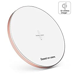Baseus Wireless QI Charging Pad Ultra Thin Charger with Micro USB Cable Quick Charging Pad for Smartphones & Tablets Rose Gold