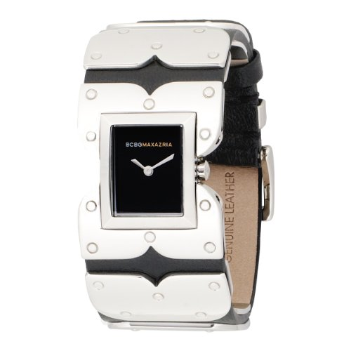 BCBGMAXAZRIA Ladies Watch BG6200 with Black Leather Strap