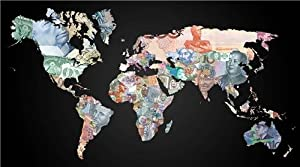 CURRENCY MAP OF THE WORLD GLOSSY POSTER PICTURE PHOTO money euro pound globe