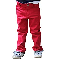 Snowflakes 3-4Y Boys' Casual Red Pant