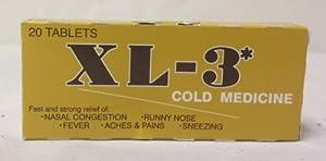 XL3 Cold Medicine 20 Tablets - Medicina Para El Resfriado
