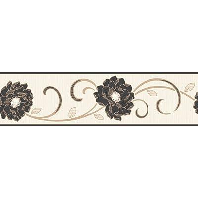Fine Decor Florentina Wallpaper Border Cream Black Gold from Fine Decor
