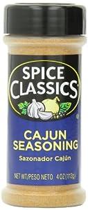 Spice Classics Cajun Seasoning, 4-Ounce (Pack of 12)