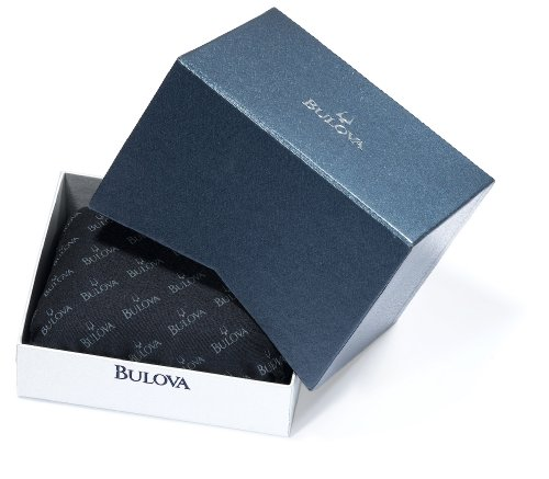 Bulova Men's 98D109 Diamond Accented Black Dial Bracelet Watch