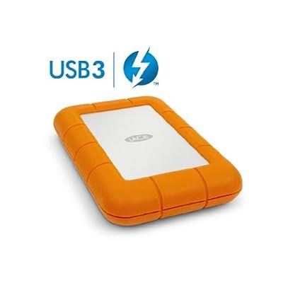 LaCie 1 TB Thunderbolt Rugged USB 3.0 Silver/Orange