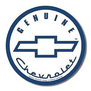 Genuine Chevy Chevrolet Round Tin Sign
