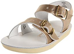 Salt Water Sandals by Hoy Shoe 2000-2020,Gold,4 M US Toddler
