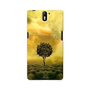 ArtzFolio Loneliness Tree In A Fantasy Field : OnePlus One Matte Polycarbonate ORIGINAL BRANDED Mobile Cell Phone Protective BACK CASE COVER Protector : BEST DESIGNER Hard Shockproof Scratch-Proof Accessories