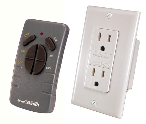 Heath Zenith WC-6020-WH Wireless Command Lighting Remote Receptacle Set