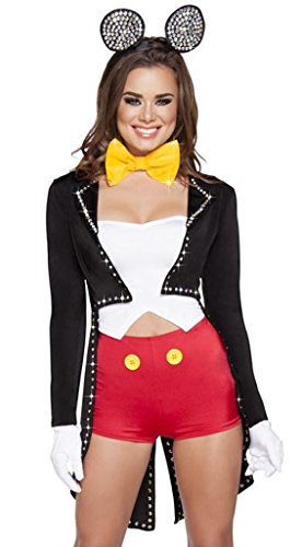 Sexy Rhinestone Mickie the Mouse Halloween Costume
