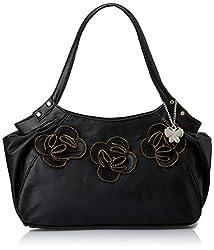 Butterflies Women's Handbag (Black) (BNS 0361)