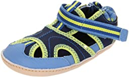 Robeez Mini Shoez Wave Crasher Pre-Walker (Infant/Toddler),Blue/Navy,3-6 Months (2 M US Infant)