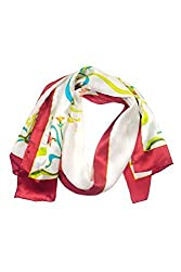 Women's Silk Scarf Shawl - Colorful Vine - Oblong Silk Scarves Rectangle Long Scarf Mothers day gifts presents gift ideas women wife mom mother daughter son birthday gifts her wife presents gift ideas women girlfriend something special me mom fas