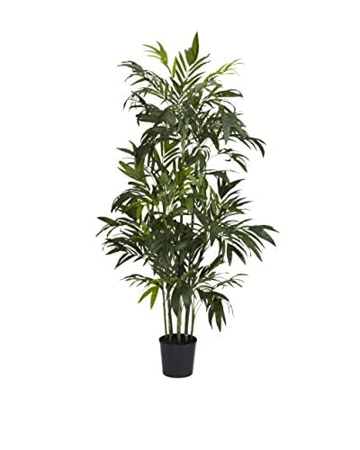 Nearly Natural Bamboo Palm Silk Tree, Green