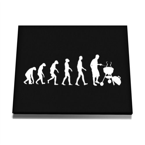 Teeburon BBQ Evolution Canvas Wall Art  12 x 8 Inch (Bbq Canvas Art compare prices)