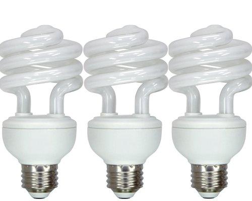 GE Lighting 97690 Energy Smart Spiral CFL 20-Watt (75-watt replacement) 1250-Lumen T3 Spiral Light Bulb with Medium Base, 3-Pack (Ge Light Bulbs Cfl compare prices)
