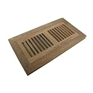 Welland 4 inch x 10 inch cumaru hardwood vent floor for Wood floor register 8 x 10
