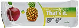 Thats It Apple Plus Pineapple Fruit Bar, 1.2 Ounce -- 12 per case.