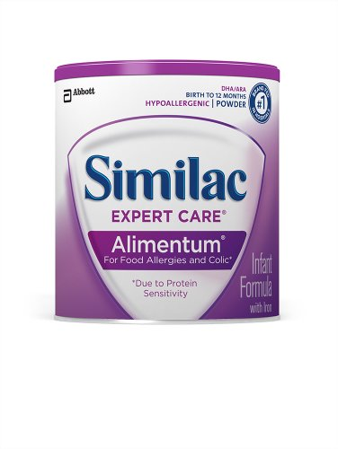 Similac Expert Care Alimentum Hypoallergenic Infant Formula with Iron, Powder, 16 Ounces (Pack of 6)
