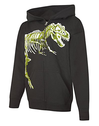 Hanes Big Boys' Graphic Full-Zip Hoodie, Black, M (Big Boy compare prices)