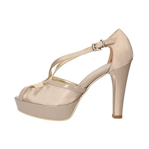 SERGIO CIMADAMORE sandali donna beige raso vernice AF482 (39 EU)