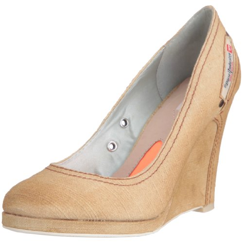 Diesel Women's Pigalle Tan Brown Wedge Heel Y00082Ps380T2063 4 UK
