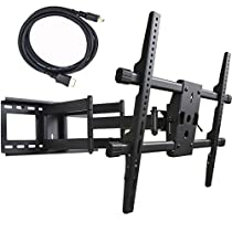 VideoSecu Large Heavy Duty Full Motion TV Mount for LG 42LV3500 42LV3700 42LV5500 47LV3700 47LV5500 47LW5600 47LW6500 50PV400 55LK520 55LV3700 55LV5500 55LW5300 55LW5600 55LW6500 Plasma LED LCD TV 1H8