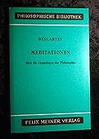 Meditationen über die Grundlagen der…