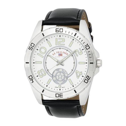 U.S. Polo Assn. Men's US5159 Silver Dial Black Strap Watch
