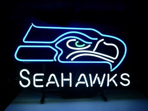 New Seattle Seahawks Football Real Neon Light Beer Bar Pub Sign at Amazon.com