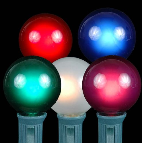 Christmas Novelty Lights Outdoor : Novelty Lights, Inc. G40-E12-5W-S-MU Globe Outdoor Patio Party Christmas Replacement Bulbs ...