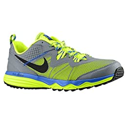 Nike Dual Fusion Trail Running Shoes Blue Grey Yellow 12.5