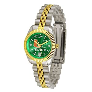 Miami Hurricanes Ladies Executive AnoChrome Watch by SunTime