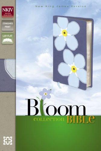 Bloom Collection Bible: New King James Version Italian Duo-Tone, Forget Me Not Bloom Collection Bible / Ribbon Marker