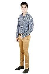 T.D.G Casual Long Sleeve Cotton Shirt (Black)