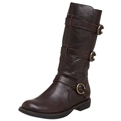 Farylrobin Women's Lucky Buckle Boot,Wood,6.5 M US