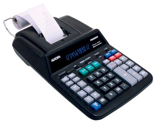 Aurora Pr1000M 12 Digit Jumbo Led 2 Color Commercial Grade Printing Calculator
