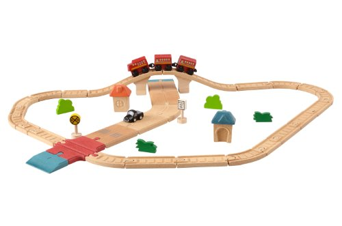 Plan Toys City Road and Rail Play Set