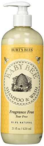 Burt's Bees Baby Bee Fragrance Free Shampoo and Wash, 21 Fluid Ounces